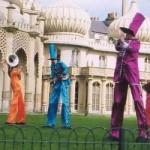 Musical Stilt Walkers in Sussex