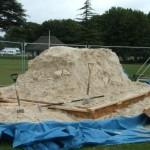 Sand compressed